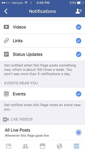 How to get our Facebook LIVE notifications