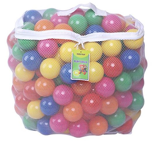 Click N Play Phthalate Free BPA Free Crush Proof Plastic Balls
