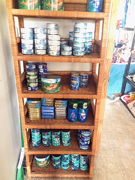 The cats are all stocked up on Tuna and Salmon
