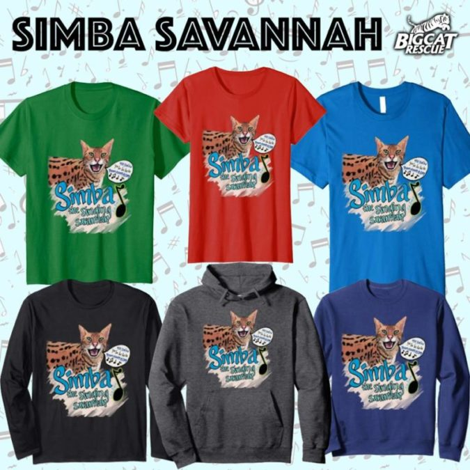 How CUTE is this!!!?! Thanks to supporter and artist Ruth Braham, we now have an adorable design of Simba Savannah available on our Amazon and Teespring stores!