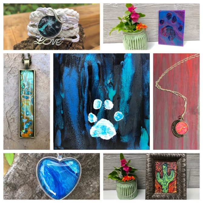 On the weekends I spend a lot of time in my art studio. Lots of new original art jewelry as well as Nikita lion and Sapphire Paw-casssos are now available for purrr-chase. www.dancingbutterflystudio.com