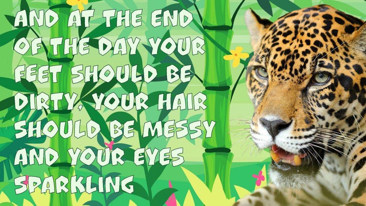 "Memes and Quotes of the Day - ""At the end of the day your feet should be dirty, your hair should be messy and your eyes sparkling."""