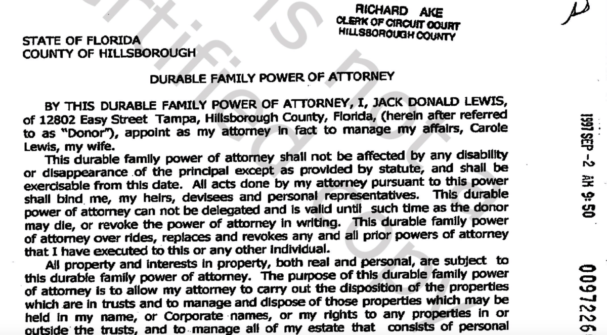 Power of Attorney Real